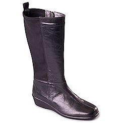 Aerosoles - Black Aerosoles 'Four Seater' Knee High Leather Boots