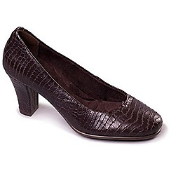 Aerosoles - Dark Brown Aerosoles 'Dolled Up' Smart Leather Court Shoes