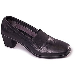 Aerosoles - Black Aerosoles 'El Dorado' Womens Leather Loafer Shoes