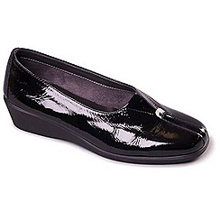Aerosoles - Black Aerosoles 'Four Some' Womens Flat Leather Shoes