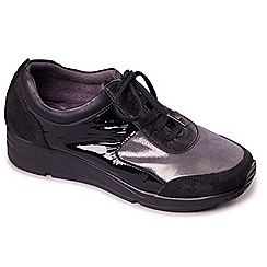 Aerosoles - Black Glitter Aerosoles 'Look At Me' Womens Trainers