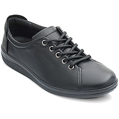 Padders - Black 'Galaxy' womens lace up shoes