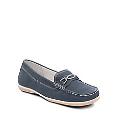 Padders - Navy 'Brighton' womens moccasin shoes