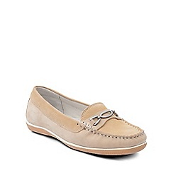 Padders - Beige 'Brighton' womens moccasin shoes