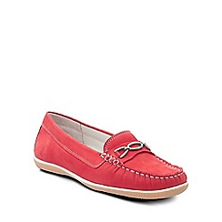 Padders - Red 'Brighton' womens moccasin shoes