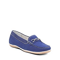 Padders - Blue 'Brighton' womens moccasin shoes