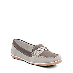 Padders - Grey 'Brighton' womens moccasin shoes