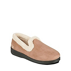 Padders - Beige 'Repose' womens memory foam slippers