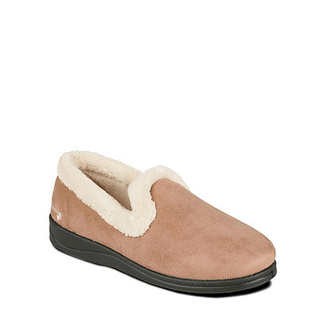 Padders - Beige +Repose+ womens memory foam slippers