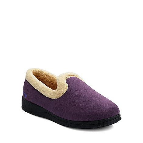 Padders - Purple +Repose+ womens memory foam slippers
