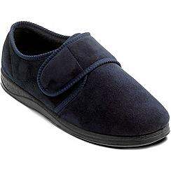 Padders - Navy 'Charles' slipper