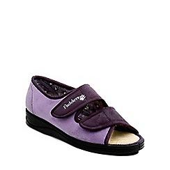 Padders - Lilac 'Lydia' womens memory foam slippers