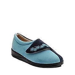 Padders - Turquoise 'Hug' ballerina memory foam slippers