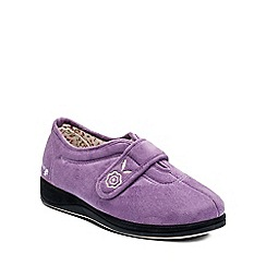 Padders - Purple 'Camilla' womens memory foam slippers