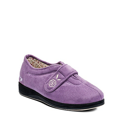 Padders - Purple +Camilla+ womens memory foam slippers
