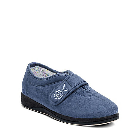 Padders - Blue +Camilla+ womens memory foam slippers