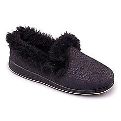 Padders - Black Padders 'Luxury' women's memory foam slippers