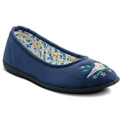 Padders - Blue Tweet Slipper