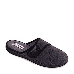 Padders - Grey 'Baxter' men's memory foam slippers