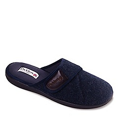 Padders - Navy 'Baxter' men's memory foam slippers