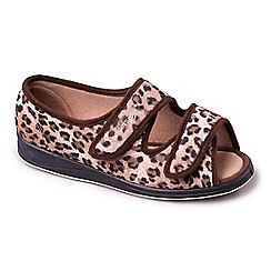Padders - Light Brown 'Lydia' women's memory foam slippers