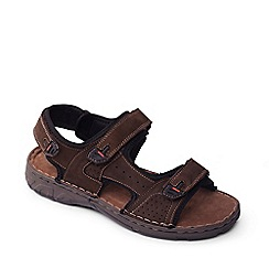 Padders - Brown 'Ocean' men's leather sandals
