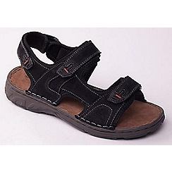 Padders - Black 'Ocean' men's leather sandals