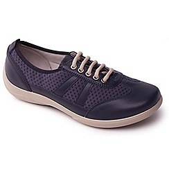 Padders - Navy 'Julie' women's lace up leather trainers
