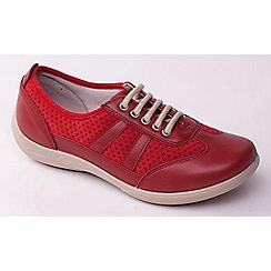 Padders - Red 'Julie' women's lace up leather trainers