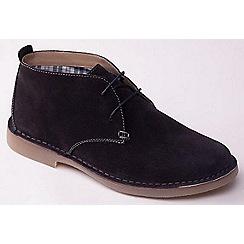 Padders - Navy 'Joe' men's leather Desert boots