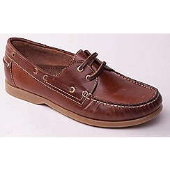 Padders - Tan 'Deck' men's leather boat shoes