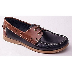 Padders - Navy 'Deck' men's leather boat shoes