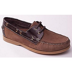 Padders - Light Brown 'Deck' men's leather boat shoes