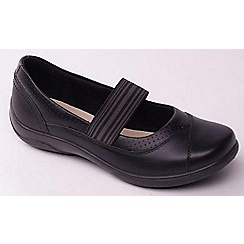 Padders - Black 'Jade' women's Mary Jane shoes