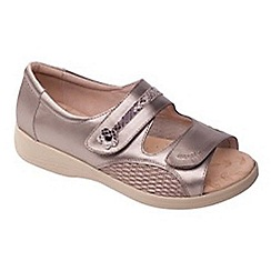 Padders - Metallic leather 'Grace' wide fit sandals