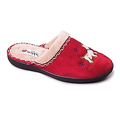 Padders - Red 'Scotty' women's memory foam slippers