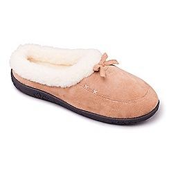 Padders - Taupe/Camel Padders 'Snug' women's memory foam slippers