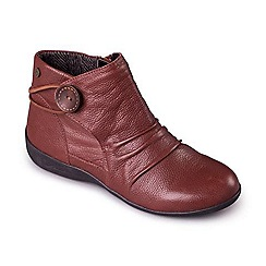 Padders - Tan 'Carnaby' women's leather ankle boots