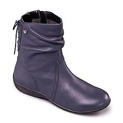 Padders - Navy 'Covent' women's leather ankle boot