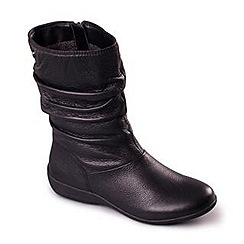 Padders - Black 'Chelsea' women's leather ankle boots