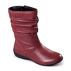 Padders - Wine 'Chelsea' women's leather ankle boots