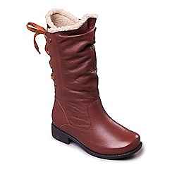 Padders - Tan 'Piper' women's long leather boots
