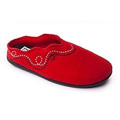 Padders - Red 'Aspen' women's felt memory foam slippers
