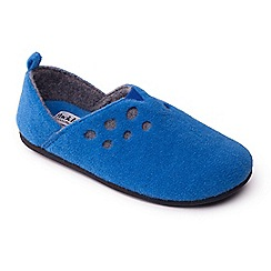 Padders - Blue 'Riva' women's felt memory foam slippers