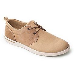 Padders - Beige 'Liam' canvas lace up men's shoes
