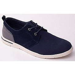 Padders - Navy 'Liam' canvas lace up men's shoes