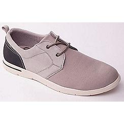 Padders - Grey Combi 'Liam' canvas lace up men's shoes