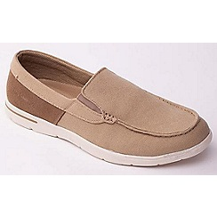 Padders - Beige  'Lee' casual men's canvas Loafers