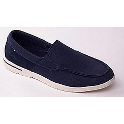Padders - Navy  'Lee' casual men's canvas Loafers