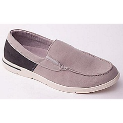 Padders - Grey Combi  'Lee' casual men's canvas Loafers